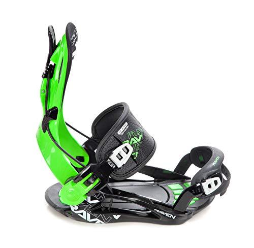 RAVEN Snowboard Bindung Fastec FT270 (Green 2020, XL(43-47))