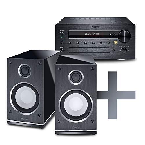 Magnat Set MC 100 & Quantum Edelstein | HIGH-END Verstärker / Lautsprecher Kombination - schwarz
