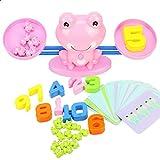 Mathe-Spiel, Balance-Skala Spielzeug Frosch Balance Montessori Math-Spiel Spaß Lernen Balance-Skala...