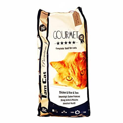 JLN PIENSO para Gatos Premium Gourmet (atún y Pollo) 18 KG - Fórmula Omega 3-6 (Taurina 1060mg/kg)