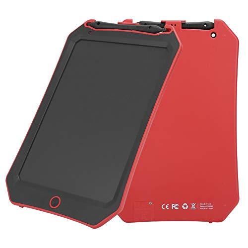 Lazmin112 Tableta de Dibujo para niños LCD de 8,5 Pulgadas, Tablero de Dibujo electrónico portátil, Tablero de Escritura Digital, patrón de murciélago(Rojo)