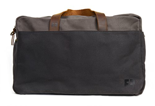 the DUFFEL | Waxed Cotton Canvas Duffel Bag with Leather Handles