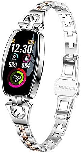 RSGK Bracelet Intelligent Femmes Activité Fitness Tracker Moniteur de Fréquence voiturougeiaque Pression Artérielle IP67 étanche intelligent Bracelet