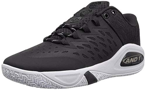 AND 1 Herren Attack Low, Black/Junebug/Gum, 39 EU