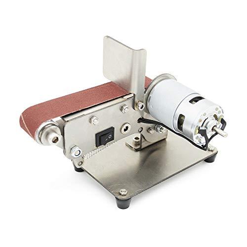 Mini elektrische Bandschleifer DIY Poliermaschine Schleifmaschine mit 795 Spindelmotor 24V 600 m/min