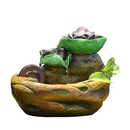 QULONG Decoración de Interiores Fuente de Escritorio Creativa Decoración del hogar Artesanía Planta hidropónica Tanque de Peces Adornos de Escritorio Adornos de Escritorio
