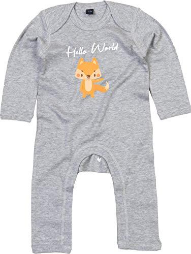Kleckerliese Pijama para bebé con diseño de animales y zorro Tejido Heathergreymelange. 3-6 Meses