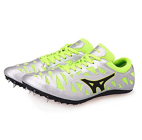 Tyfiner Spikes Zapatos Atletismo Zapatos Picos de Pista y Campo Ultraligeros Deporte Masculino En Forma Hombres Sra Al Aire Libre Corriendo Competencia,002,38EU