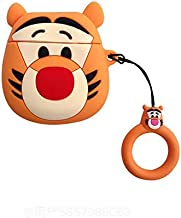 Ultra Thick Soft Silicone Winnie The Pooh Tigger Case Finger Loop for Apple Airpods 1 2 Orange Tiger Protector Walt Disney Disneyland 3D Cartoon Cute Lovely Kawaii Fun Girls Teens Son Daughter