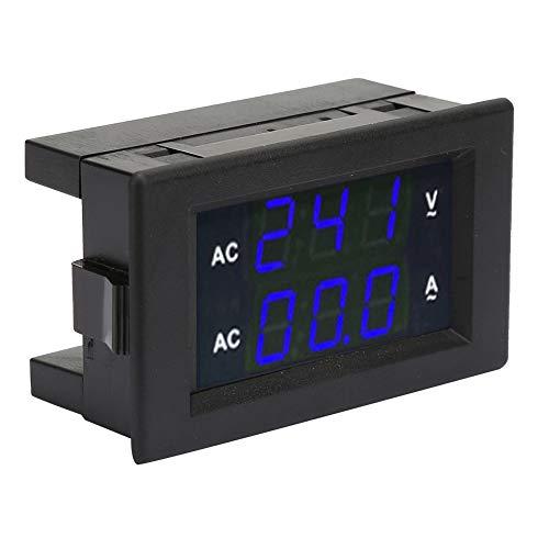 Medidor de amperios de CA, voltímetro profesional, multifuncional y duradero para el hogar con un laboratorio de alto transformador(Blue)