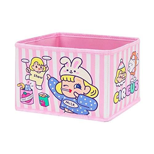 Cosmetic Bag Kawaii Storage Case Box Girls for Home Storage Organizer Function Case Pouch 18X13x11CM-Pink_Rabbit_18X13x11CM
