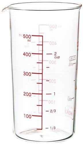 iwaki(イワキ) 耐熱ガラス 計量カップ メジャーカップ 500ml KTMC-500
