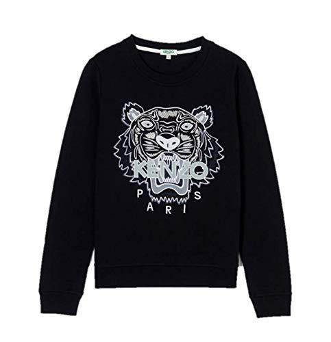 Kenzo Tiger 4X12SW705K09P18599 - Sudadera para mujer, color negro y blanco Negro XL