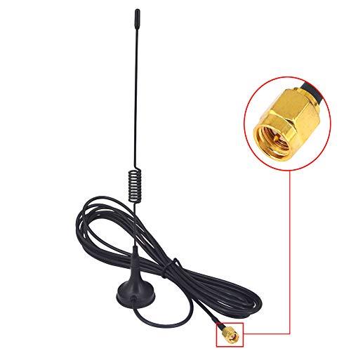 3DBi ADS-B-Antenne, 1090 MHz, mit SMA-Stecker, Innen-Antenne mit Magnetfuß, RG174 Pigtail 3M für Software-basierte Funkgeräte (SDRs), Piaware FlightAware Pro Stick Plus, ADS-B-USB-Empfänger.