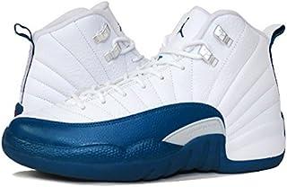 [ナイキ] AIR JORDAN 12 RETRO BG WHITE/BLUE/METALLIC SILVER/RED 【FRENCH BLUE】 [並行輸入品]