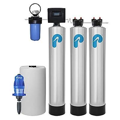 Iron/Manganese Whole House Water Filter & Salt-Free Softener (4-6 Bathrooms)