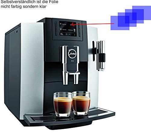 4ProTec I 4X ANTIREFLEX matt Schutzfolie für Jura 15084 E8 Kaffeevollautomat Displayschutzfolie Bildschirmschutzfolie Schutzhülle Displayschutz Displayfolie Folie