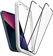 Spigen AlignMaster Screenprotector compatibel met iPhone 13, iPhone 13 Pro, 2 Stuks, Frame voor eenvoudige installatie, Volledige dekking, Case friendly, 9H Gehard Glas