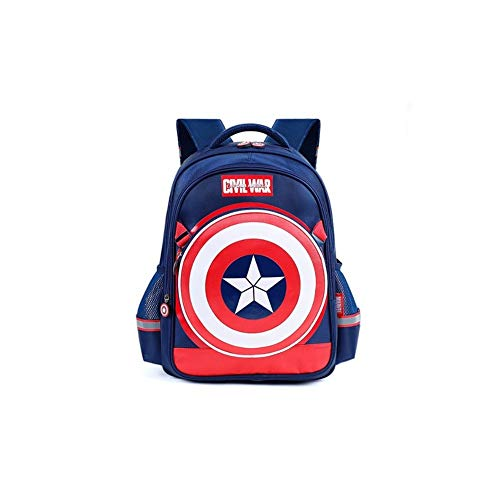 Q Children\'s school bag Studententasche - Captain America Shield Rucksack Junge 6-10 Jahre alt