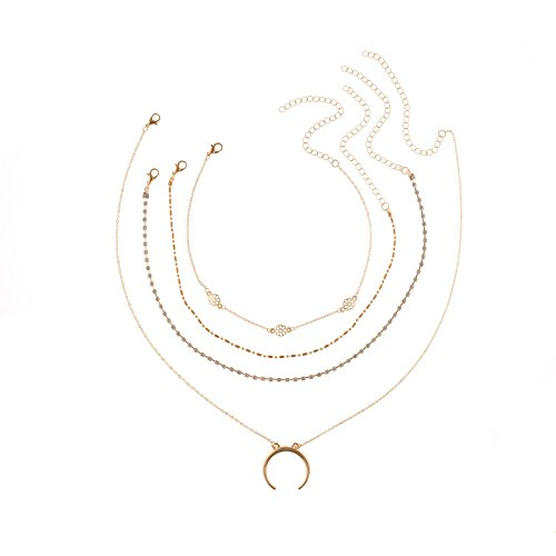 ANAZOZ Schmuck Damen Halskette Vergoldet Halskette mit Anhänger Gold Länge 38CM