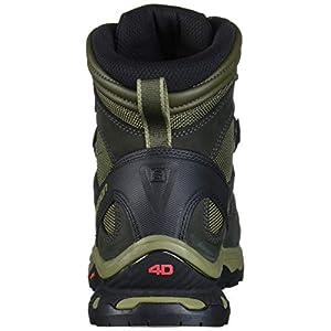 Salomon Men's Quest 4D 3 GTX Backpacking Boots, Grape Leaf/Peat/Burnt Olive, 7.5