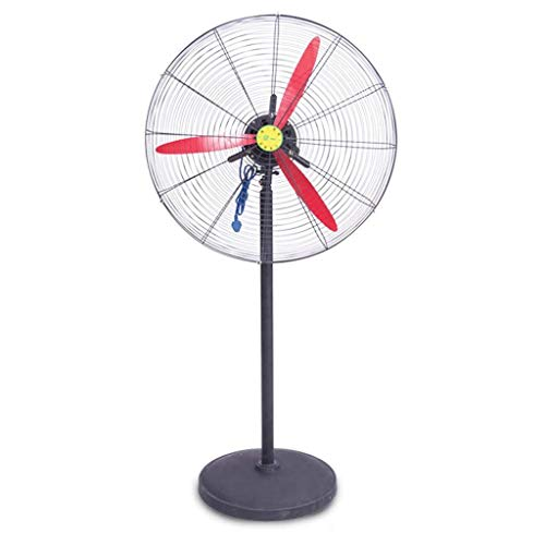 Silent thuis elektrische ventilator JHome-Pedestal Fans Industrial Metal Uitlaat Horn Fan verticale standaard Floor High Power Household Cooling luchtbevochtiger oscillerende Aluminium Floor fan