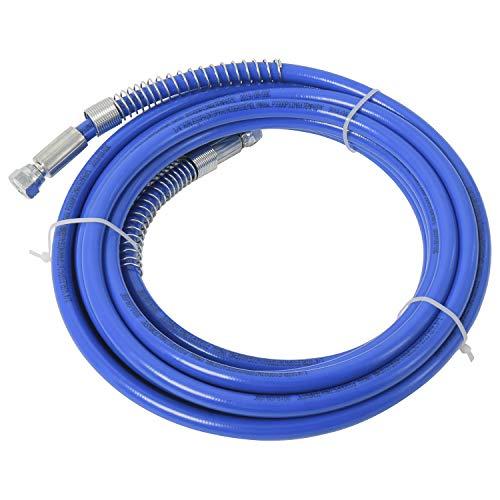 "25ft x 1/4"" Airless Paint Spray Hose Blue Color 7.5m Light Flexible Fiber Tube (7.5m)"