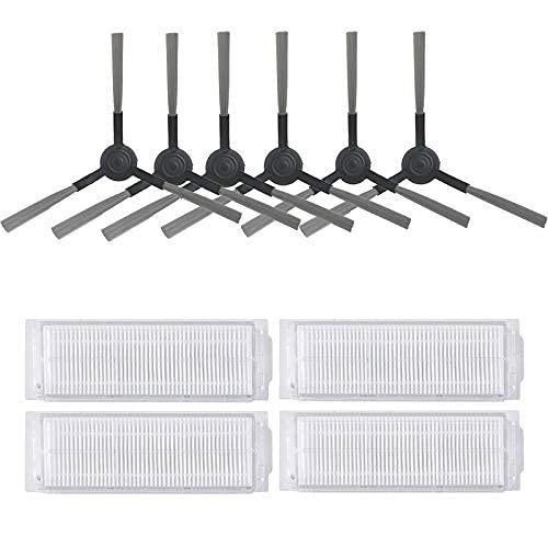 Piezas de repuesto para limpiador de filtro Hepa, cepillo de centrifugado, para Xiaomi Fit para Roborock Mijia LDS/STYJ02YM/Conga 3490 Viomi V2 PRO V3 Robot aspirador (color: 2 Dry n 3 Wet Clo