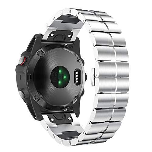 Learn More About Lyperkin Compatible with Garmin Fenix 5X Plus Watch Band, Fashion Luxury Stainless ...