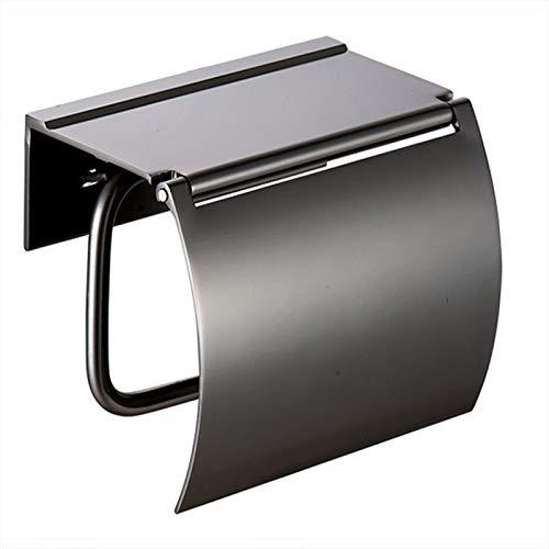 Portarrollos Baño Adhesivo,Caja De Pañuelos De Papel Higiénico Espacio De Perforación Espacio Titular De Aluminio Rollo De Papel Higiénico Titular De Toalla De Papel Gris Ponche Gratis