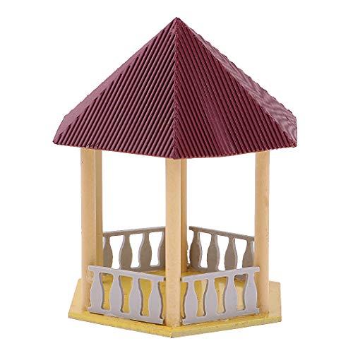 Baoblaze Chinesische Pavillon Gebäude Spur Ho Modell Zubehör für Modellbau Eisenbahn - mr1307