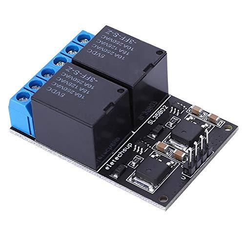 Módulo de Relé de 2 Canales Dc 12V, Módulo Mcu de Botón de Placa de Disparo de Pulso Bajo Autoblocante Biestable