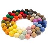 Forart Bolas de fieltro de lana hechas a mano pompones bolas de fieltro hechas a mano pequeña bola...