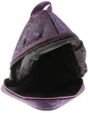 Almencla Premium Crystal Singing piramide tas, waterdicht 7/10 inch kristal piramide draagtas rugzak - lila, 7 inch