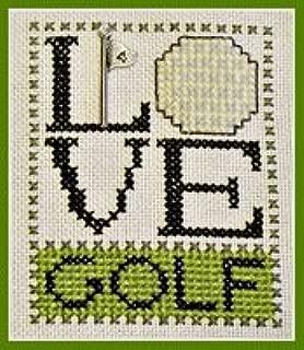 Love Golf Cross Stitch Chart and Charm