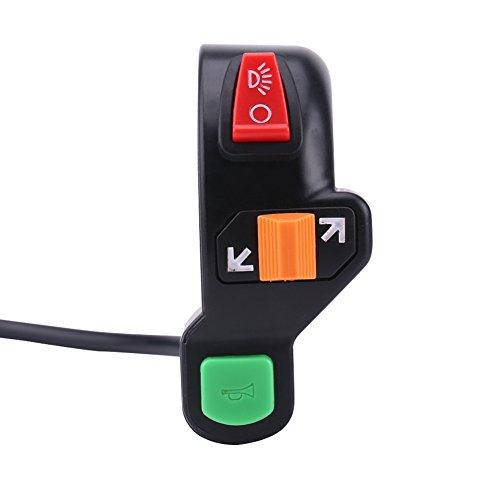 Keenso Interrupteur universel pour guidon de moto, clignotant, clignotant, clignotant, phare de phare, interrupteurs marche/arrêt 22 mm