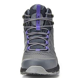 XPETI Women's FASTRAIL Light Hiking Boot (8, Light Grey/Purple)