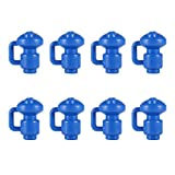 8 Stück Trampolin-Endkappen aus PP-Kunststoff, 2,5 cm Durchmesser, Trampolin-Abdeckkappe für Netzhaken, stabile und langlebige geschlossene Stangenkappe