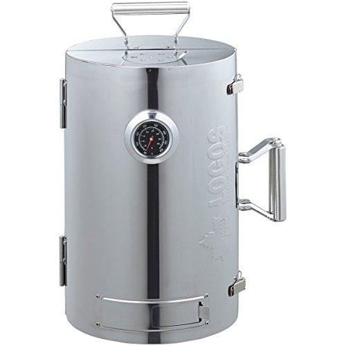 ロゴス(LOGOS) スモーカー LOGOSの森林 スモークタワー 燻煙器 円筒型 180度開閉タイプ 熱源不要
