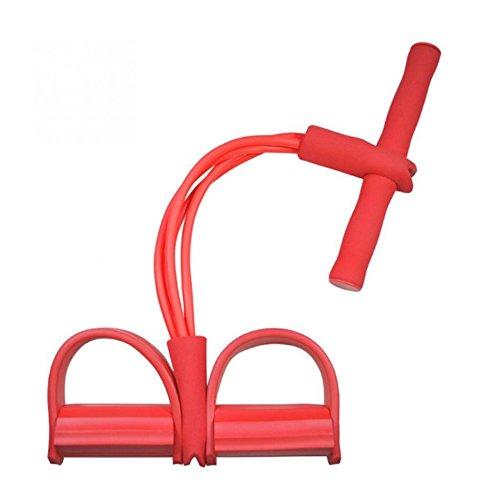 Rojo Fitness Pilates Yoga tensión resistencia bandas elástica deportes 4tubos entrenamiento gimnasio equipo
