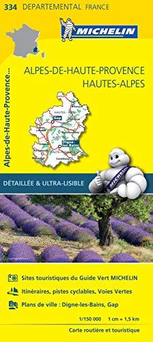 Carte Alpes-de-Haute-Provence, Hautes-Alpes Michelin