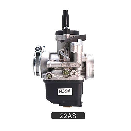 XIWEIG 2T PHBL R2706/R2707 Carburetor/Fit For - Dellorto PHBL / 20AS 22AS Manual Air For VESPA 50 Montesa (Color : PHBL 22AS)