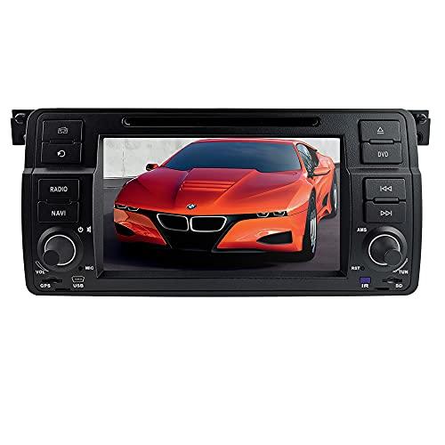 Automobile Stereo Stereo con touch screen da 7 pollici Sistema WinCe System per BMW E46 Sedan/Coupe/Convertibile/Touring/ Hatchback/M3, supporta la navigazione GPS SWC USB Bluetooth DVD RDS TF EQ