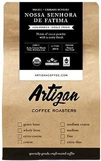 100% USDA Organic Coffee - Brazil - Estate - Nossa Senhora De Fatima - Roasted in Miami, FL (Fine Grind, 5 LB)