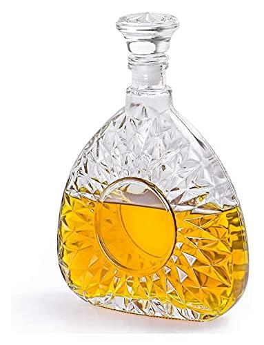 HAOKTSB Decantador de Vidrio Decantador de Licor, decantador de Vidrio con tapón hermético, Botella de decantación for Whisky, Brandy, Whisky, Bourbon Licorera