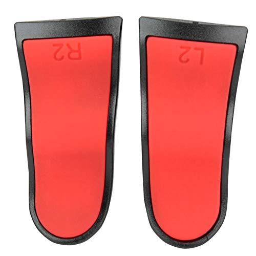 L2/R2 Extension Trigger Soft Touch Controller Extenders Buttons Puños extendidos para el Controlador PS4(Rojo)