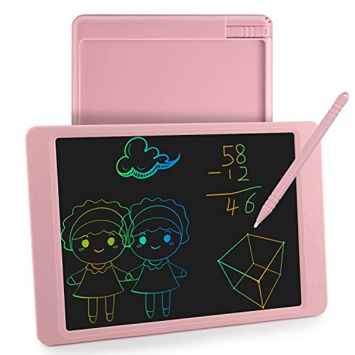 Lacoti LCD Writing Tablet,Kids Writing Board and Electronic Doodle Pad,10 Inch Colorful Drawing Tablet Toy for Kids Learning and Graffiti Gift(Pink)