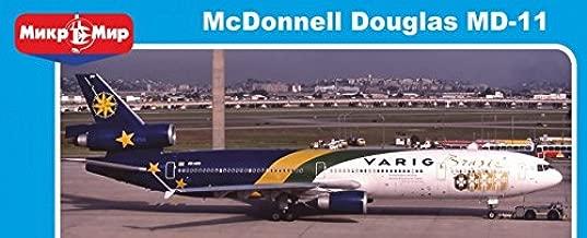 PLASTIC MODEL BUILDING AIRPLANE MCDONNELL DOUGLAS MD-11 VARIG BRASIL. LIMITED EDITION 1/144 MICRO-MIR 144-017