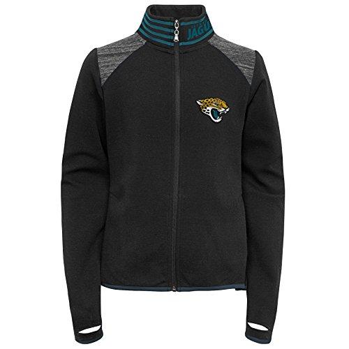 Outerstuff NFL Jacksonville Jaguars Youth Boys Aviator Full Zip Jacke, Mädchen, 9K1G6FAA3 JAG --GXL16, Schwarz , Jugendliche XL