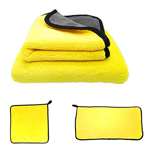 YIYIDA Paño de limpieza automóviles paño de microfibra microfibra absorbente mejorada paños de felpa gruesos para el cuidado de la pintura de la motocicleta del hogar lavado secado avado de auto etc